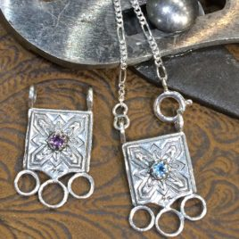Sterling Silver Jinny Beyer Logo Chatelaine with Gem