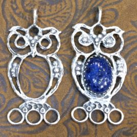 Sterling Silver Owl with or without gem