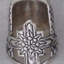 Jinny Beyer Tiny Sterling Silver Thimble , no gem – open nail
