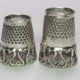 Open Hearts Band Quilting Rim Thimble in Sterling Silver