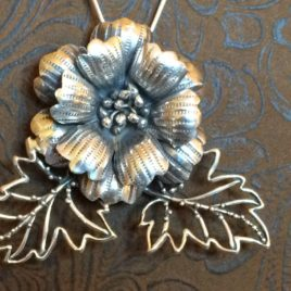Big Flower Chatelaine in Sterling Silver