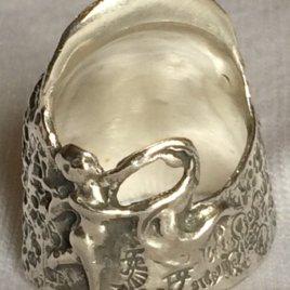Cherub Sterling Silver Thimble, open nail