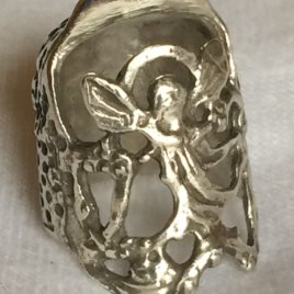 Angel Sterling Silver Thimble – Open Nail