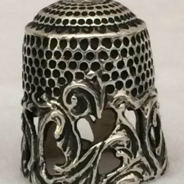 Baroque Dome Thimble in Sterling Silver