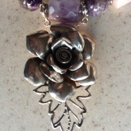 Big Rose Chatelaine in sterling silver