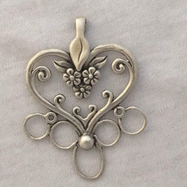 Jan's Heart Sterling Silver Chatelaine
