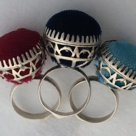 Pincushion Ring with Oval Cage