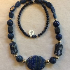 Natural Gemstone Necklace/Chatelaine