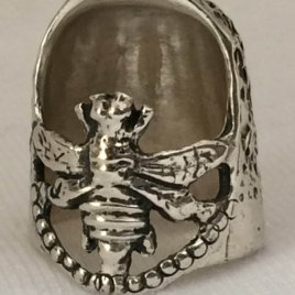 Bee Sterling Silver Thimble – open nail