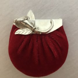 Calla Lilly Purse with Pincushion Chatelaine