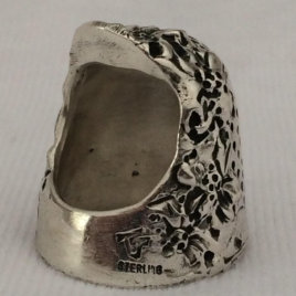 Dogwood Sterling Silver Thimble – open nail