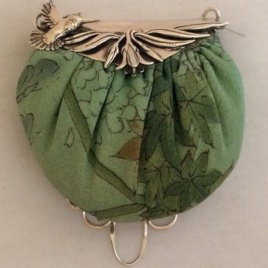 Hummingbird Purse with Pincushion Chatelaine