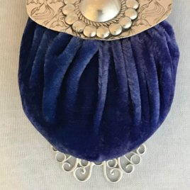 Big Button Purse With PIncushion Chatelaine